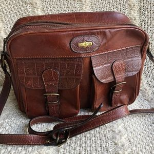 Vintage El Campero Leather Messenger Shoulder Bag